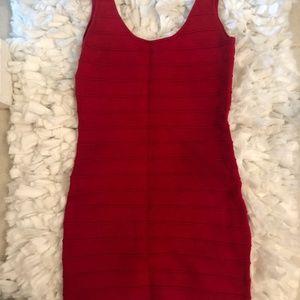 Red Charlotte Russe Bandage Dress